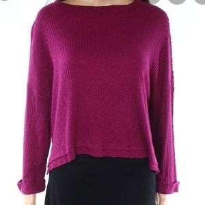 Abound Draped Knit Thin Ribbed Loose Fit Sweater